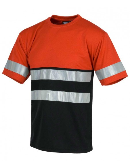 T-shirt Alta Visibilità Arancione/Blu