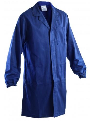 Camice Blu Da Lavoro 100% Cotone Con Elastici ai Polsi