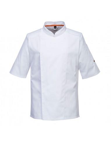 Giacca Cuoco MeshAir Pro Manica Corta Bianca 1